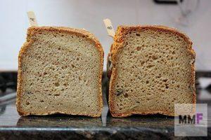 harina de garbanzo vs harina de soja, miga