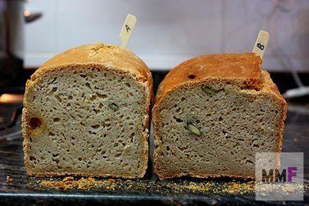 Dos panes con diferente proporción de MaMa. Aquí vemos la miga.