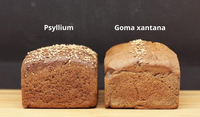 Pan sin gluten elaborado con psyllium y goma xantana