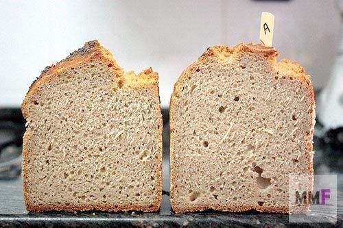 dos panes: psyllium y lino