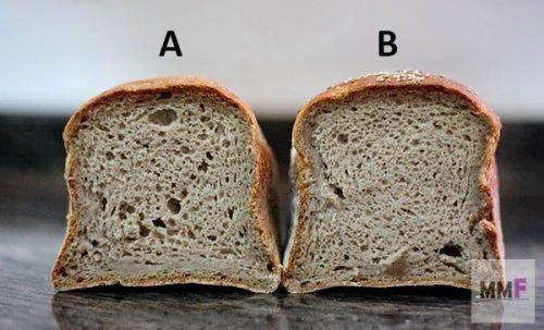 Los dos panes son iguales