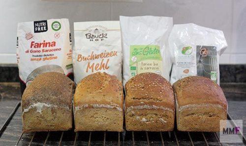 vemos los 4 panes con sus paquetes de harina