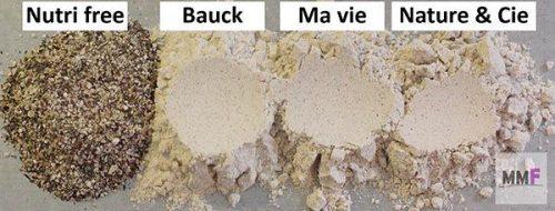 muestra de las harinas