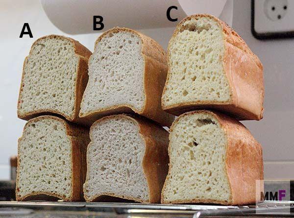 Comparativa de harinas