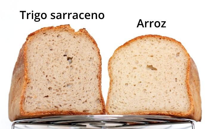 Pan de trigo sarraceno Vs pan de arroz miga