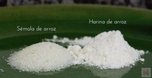 Sémola y harina de arroz