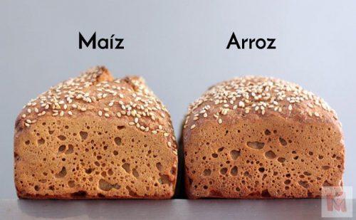 panes de arroz y maíz