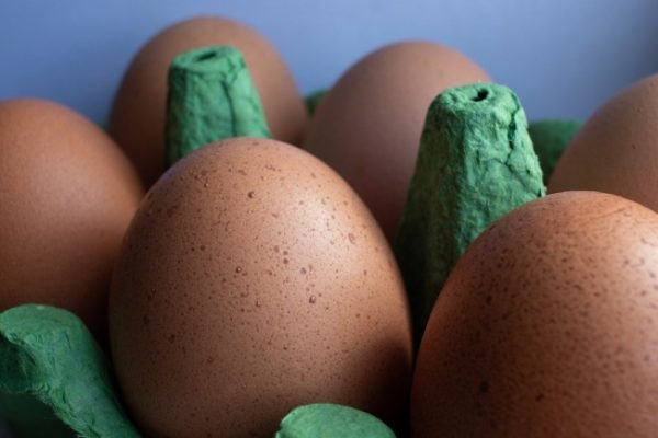 Huevos y pan sin gluten.