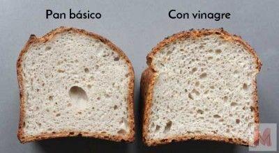 Vinagre y pan sin gluten