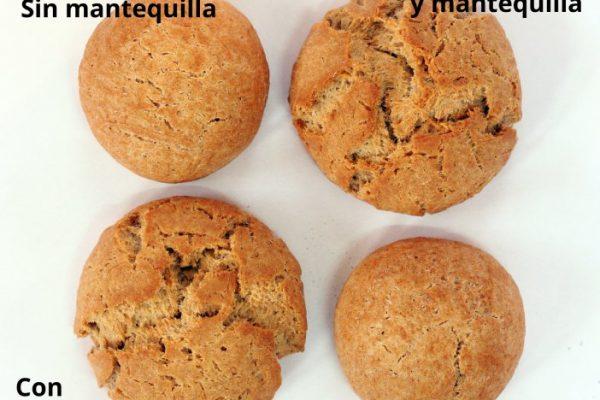 Panes sin gluten enriquecidos con mantequilla y azúcar
