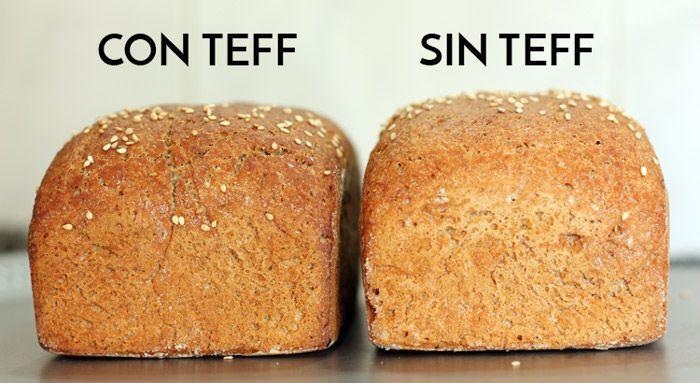 Panes sin gluten: uno de ellos contiene tef, el otro no.