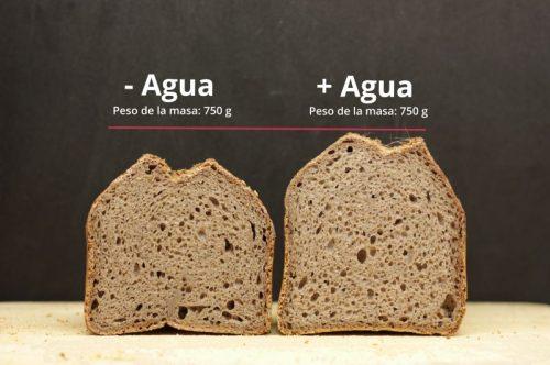 masa sin gluten con poca y más agua
